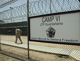 Suspected terrorists are being held at the controversial US detention centre at Guantanamo Bay