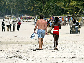 A beach on Kenya – it is estimated that around 70 per cent of sexual activities with minors is carried out by foreign nationals