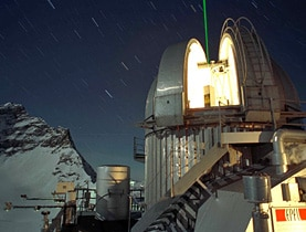 EPFL tested the Lidar technology at the Jungfraujoch Swiss Alpine Observatory station in 2001