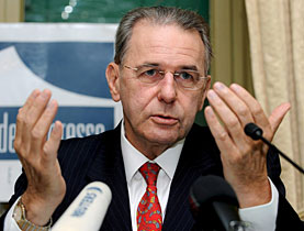 Jacques Rogge says a financial meltdown won't extinguish the Olympic flame