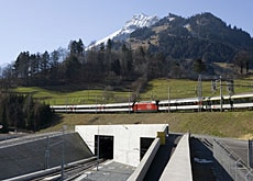 The new Lötschberg high-speed rail tunnel will help cut transalpine travel times by up to one hour