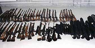The illegal cache of weapons hoarded by Dino Bellasi