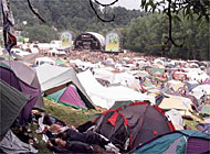"The weekend ""tent city"" at St Gallen open air festival"