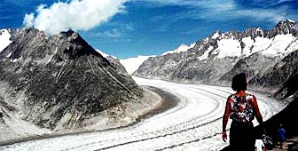 Switzerland's Aletsch glacier attracts thousands of tourists each year
