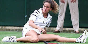 Down, and out: Patty Schnyder exits Wimbledon