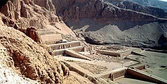 The Hatshepsut temple near Luxor was the site of the massacre in which 36 Swiss died