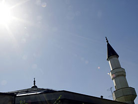 The mosque in Geneva has a minaret but no calls to prayer are made