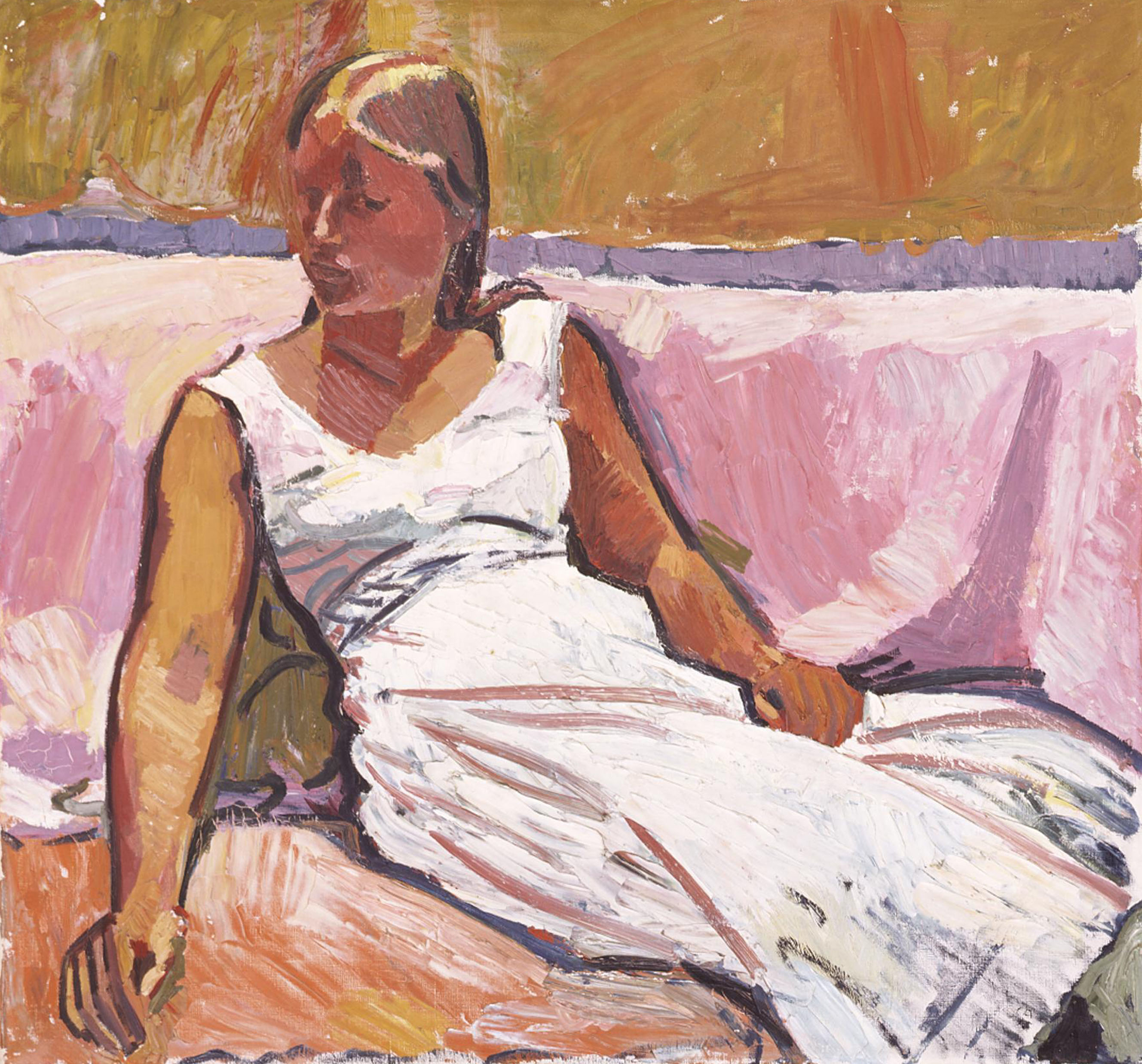 Cuno Amiet, A Girl Sitting, 1915, Museum of Art Lucerne, permanent loan from the Bernhard Eglin-Stiftung. Photo: © Museum of Art Lucerne
