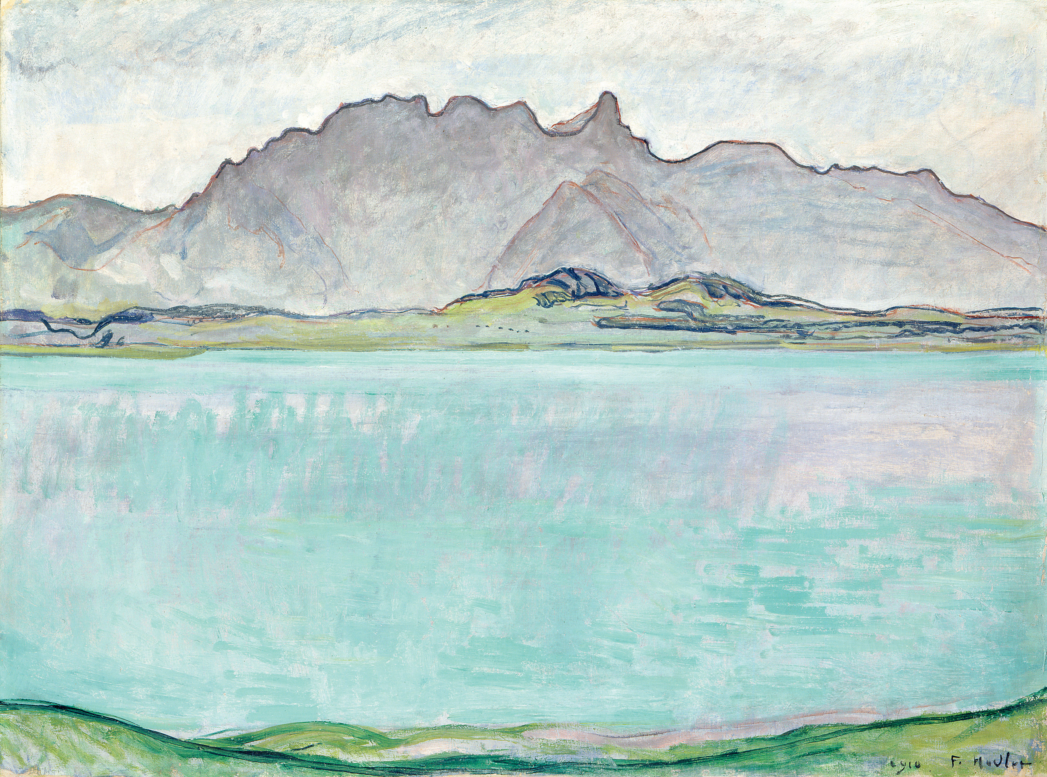 Ferdinand Hodler, Lake Thun with Stockhorn, 1910, private collection. Photo: © SIK-ISEA, Zurich