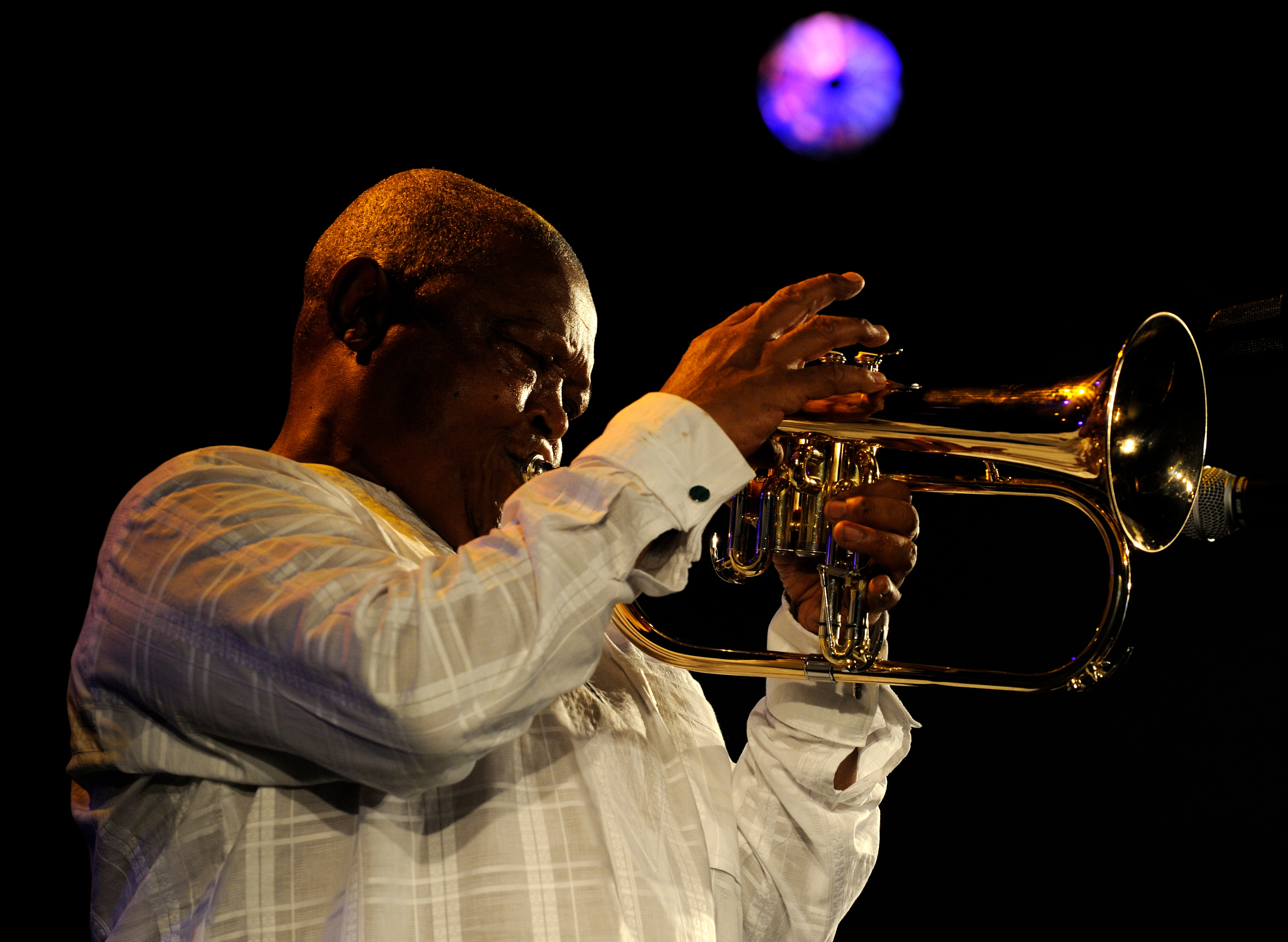 Hugh Masekela  Photo: Anne Colliard