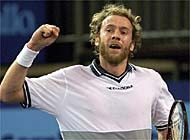Rosset was the only Swiss player smiling on Tuesday (file picture: Keystone)