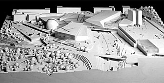 A model of Daniel Libeskind's design for the new Bern leisure centre