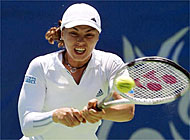 Hingis has won yet another match against a Williams sister (file picture: Keystone)