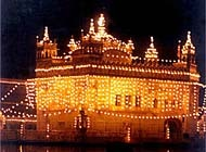 The Golden Temple in India is the home of the Sikh religion