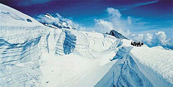Switzerland's Aletsch glacier is the world's longest (picture: swiss-image)