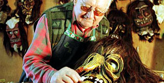 Ernst Rieder is responsible for creating many of the unique masks