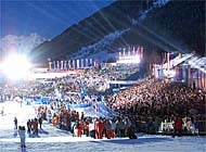 Thousands of spectators gathered for the St Anton's opening ceremony