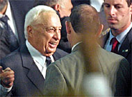 Ariel Sharon's election victory has received a negative response from Swiss commentators