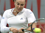 Hingis found more resistance than expected in Venezuela's Maria Vento