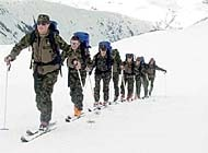 The mountain training courses for foreign troops are part of the Swiss contribution to Nato's Partnership for Peace (PfP) programme