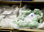 The amount of synthetic drugs, including ecstasy, seized by Swiss customs increased last year