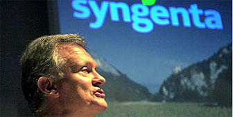 MIchael Pragnell, chief executive of Syngenta