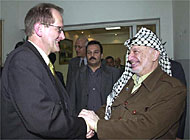 Deiss confirmed Switzerland's ongoing support for the Palestinians during a meeting with Arafat
