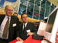 Pascal Couchepin got some hands-on experience at CeBIT