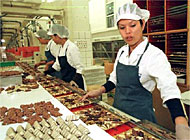 Lindt &Sprüngli's profits were up nearly 10 per cent in 2000
