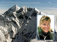 Evelyne Binsack pressed on to the summit without her Swiss team mates