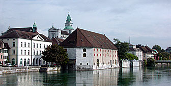 The city of Solothurn combines elements of medieval and Baroque architecture