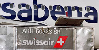 The Belgian government is taking a hard line over Swissair's involvement with Sabena