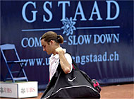 Roger Federer made a quick exit at Gstaad