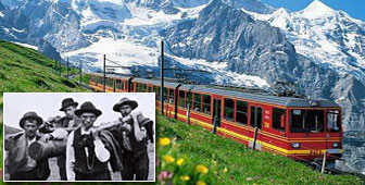 The building of the railway to the Jungfraujoch took about 15 years and relied on migrant labour (picture: Jungfrau Railways)