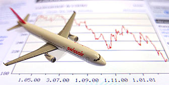 Despite the drop in share price Swissair remains a favourite among the Swiss people