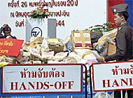 The seizure of narcotics in Thailand is a reminder of the Thai government`s tough approach to drug trafficking