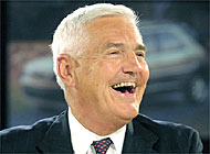 Bob Lutz smiles as he returns to the automobile industry