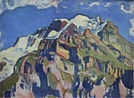 The Jungfrau with Silberhorn, as seen from Mürren by Ferdinand Hodler 1991, courtesy of the Im Obersteg Collection in Thun