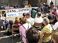 The group occupying Fribourg's St Paul church said on Monday that it was staying put