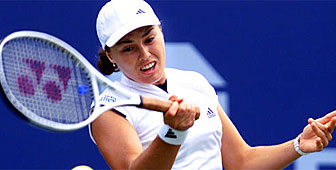 Hingis is the first player to reach the semi-finals