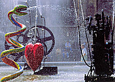Tinguely and de Saint Phalle are the creators of one of the most famous Swiss fountains - located in Paris (Jean Tinguely museum)