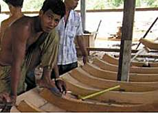 Reconstruction of fishing boats was part of the Thai project (SDC)