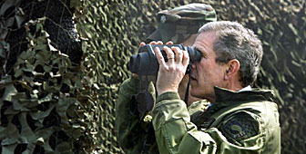 George Bush's visit to the demilitarised zone set pulses racing on both sides of the Korean border
