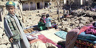 The earthquake in northern Afghanistan is thought to have left more than 30,000 people homeless