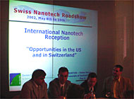 "Swiss scientists are seeking lessons from the US during a weeklong ""Nanotech"" roadshow"