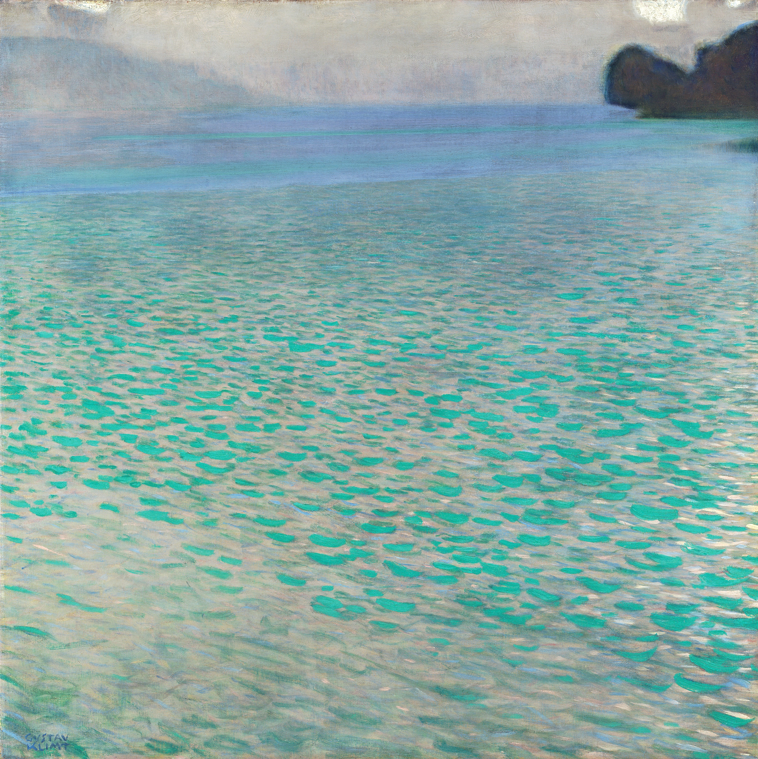 Gustav Klimt: Le Lac d'Atter, 1901, huile sur toile  (Leopold Museum, Vienne/Photo: Manfred Thumberger)