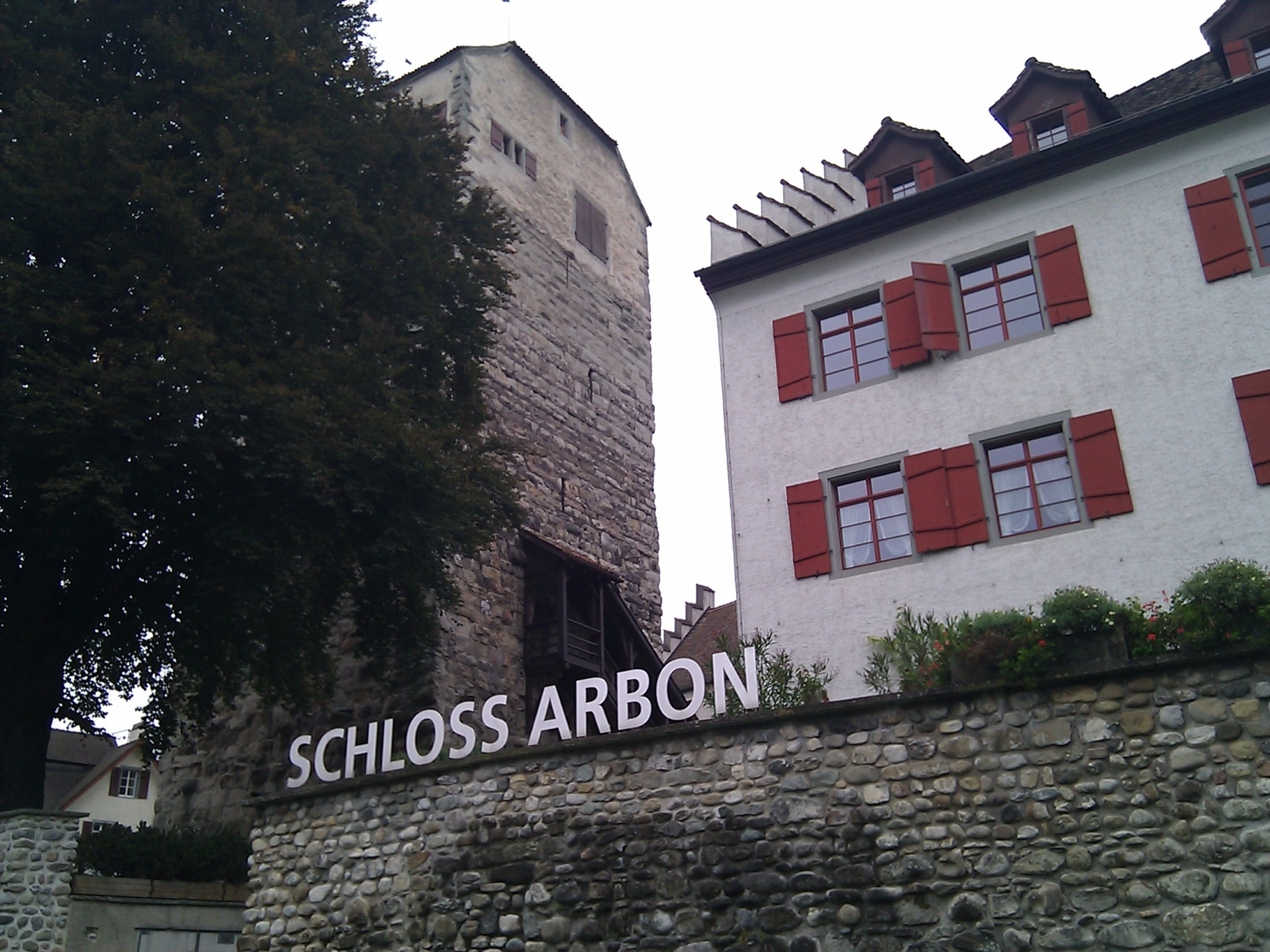 Lunch in Arbon. The town's castle is a clear reminder of troubles over the ages.