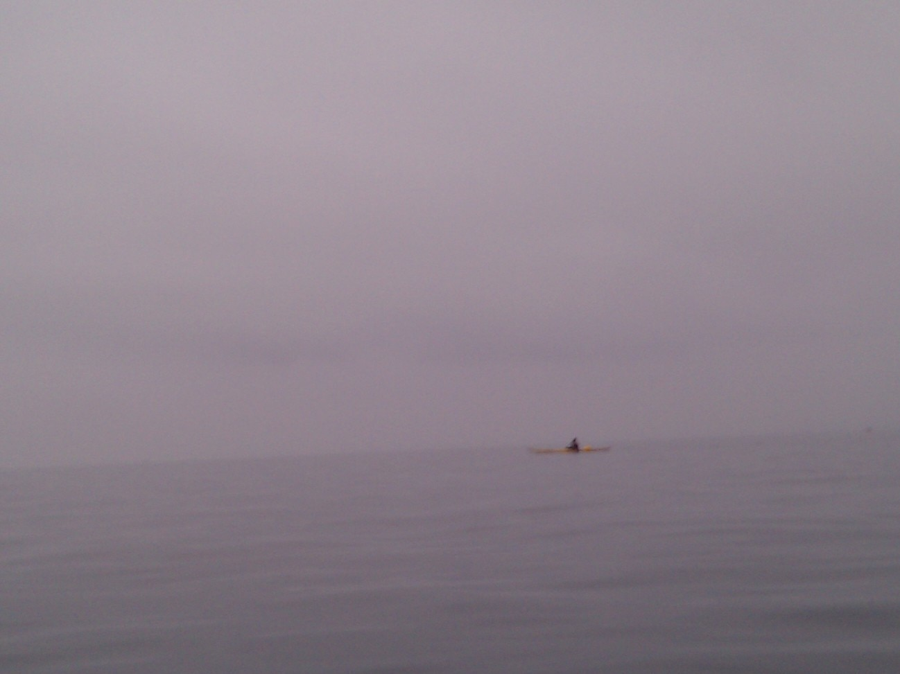 Paul nearly gets lost in the fog on Lake Constance.
