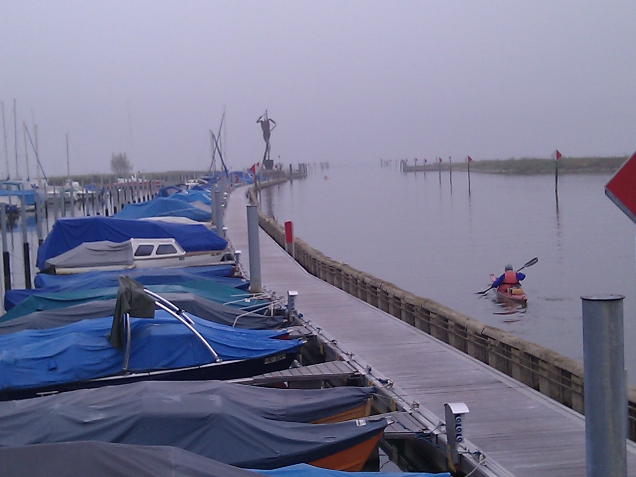 Jean-Pierre begins the day at the mouth of the Old Rhine.