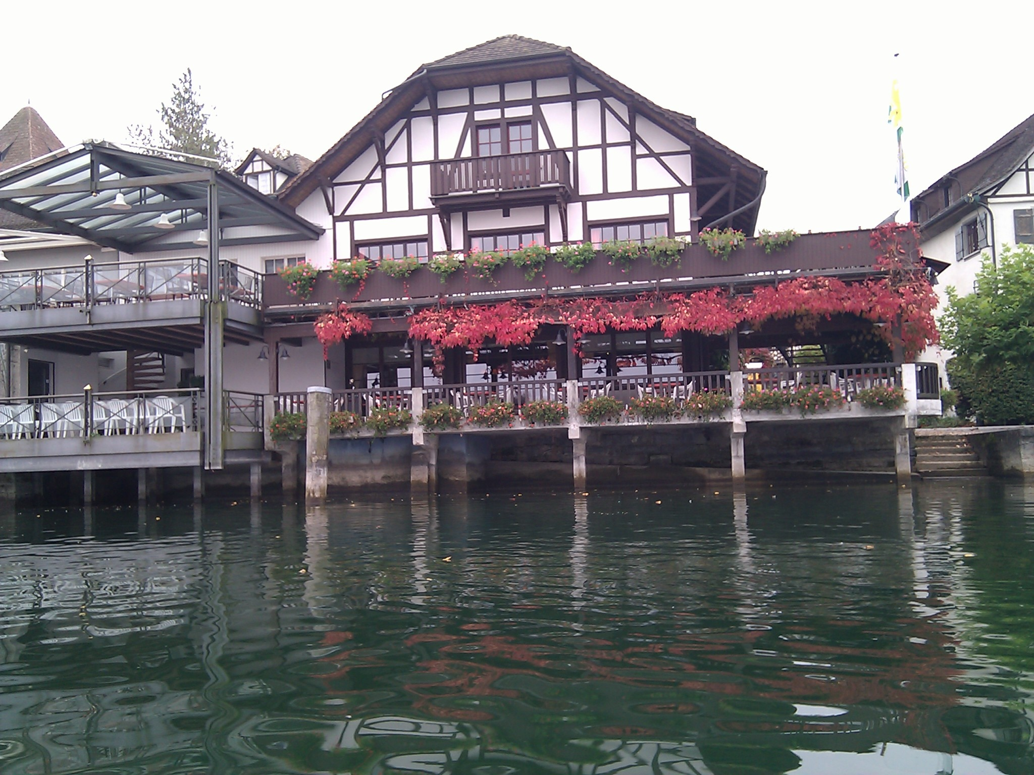 A colorful restaurant just downstream from Kreuzlingen.